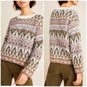 New Anthropologie Fabiana Fairisle Sweater Large
